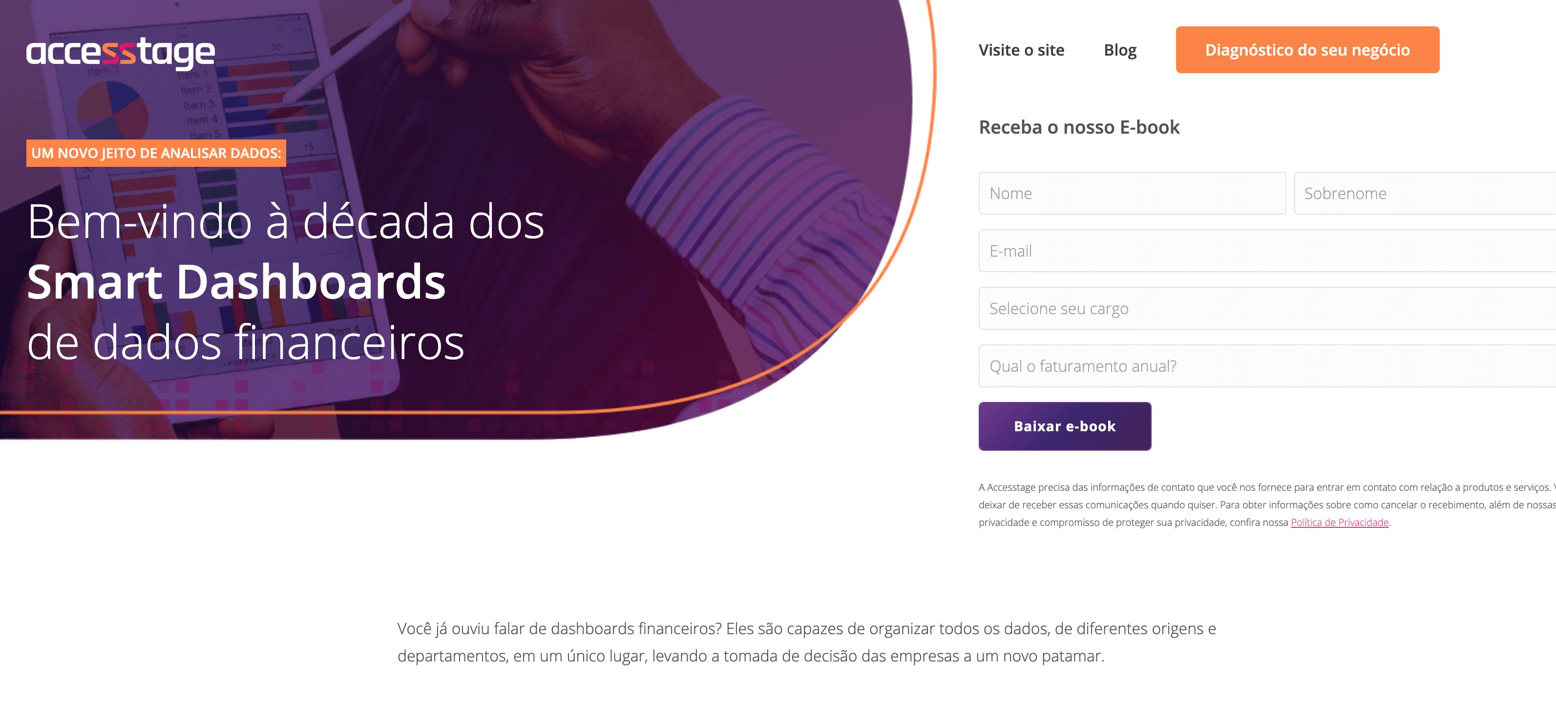 Landing Page Accesstage - Ebook