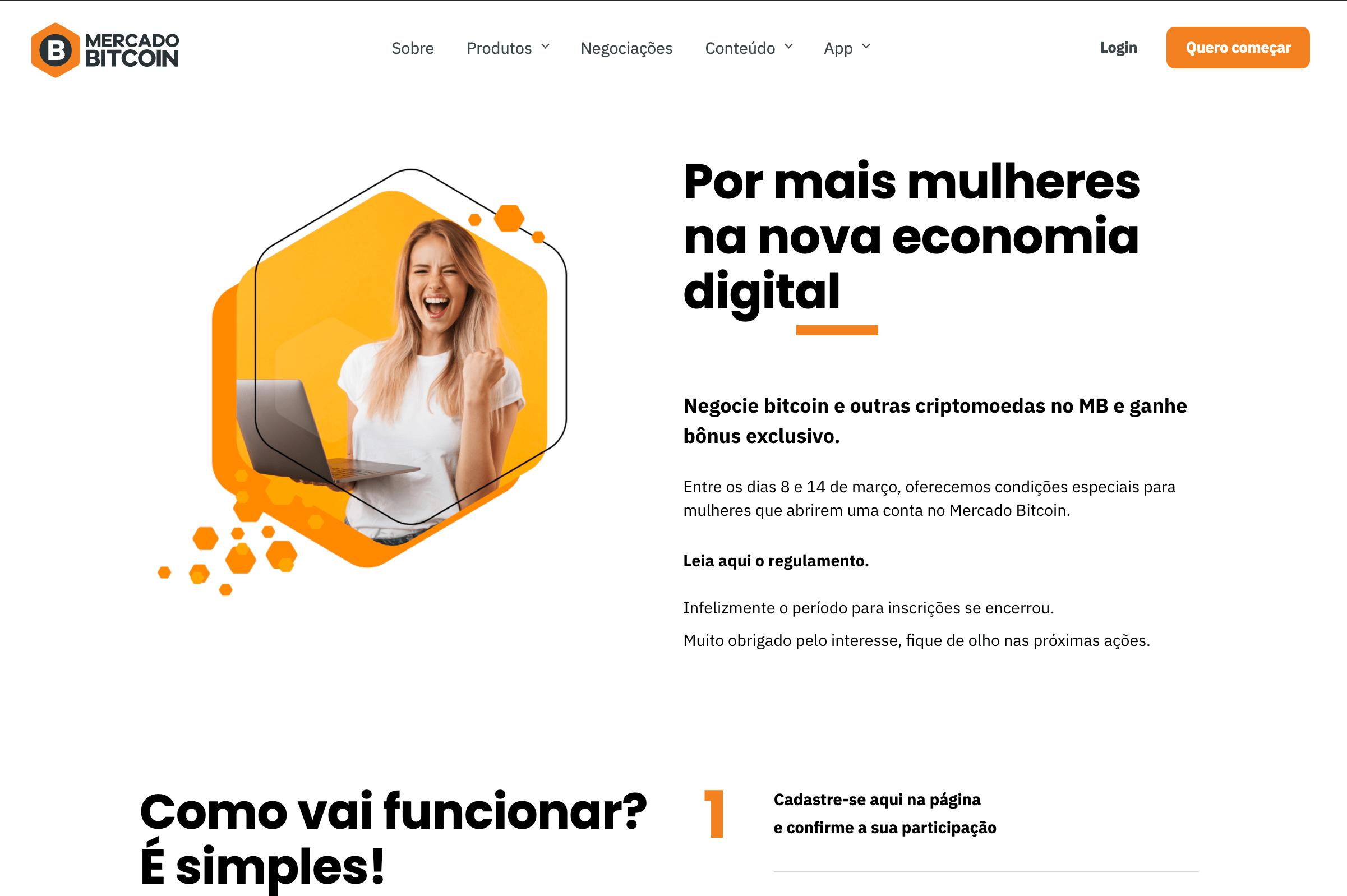 Mercado Bitcoin - Campanha Mulheres